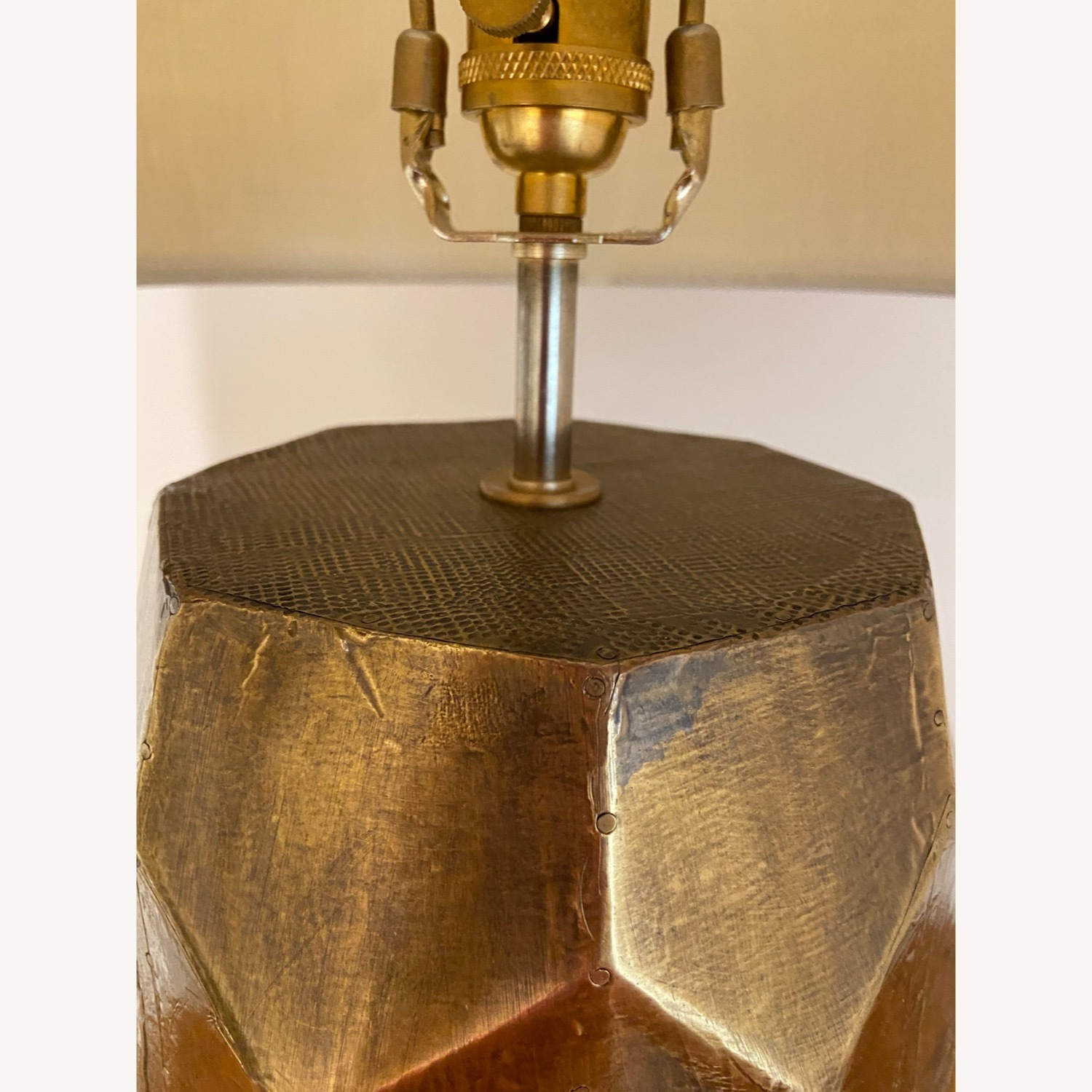 Pottery Barn Hammered Golden Honeycomb Lamps (2) - image-2