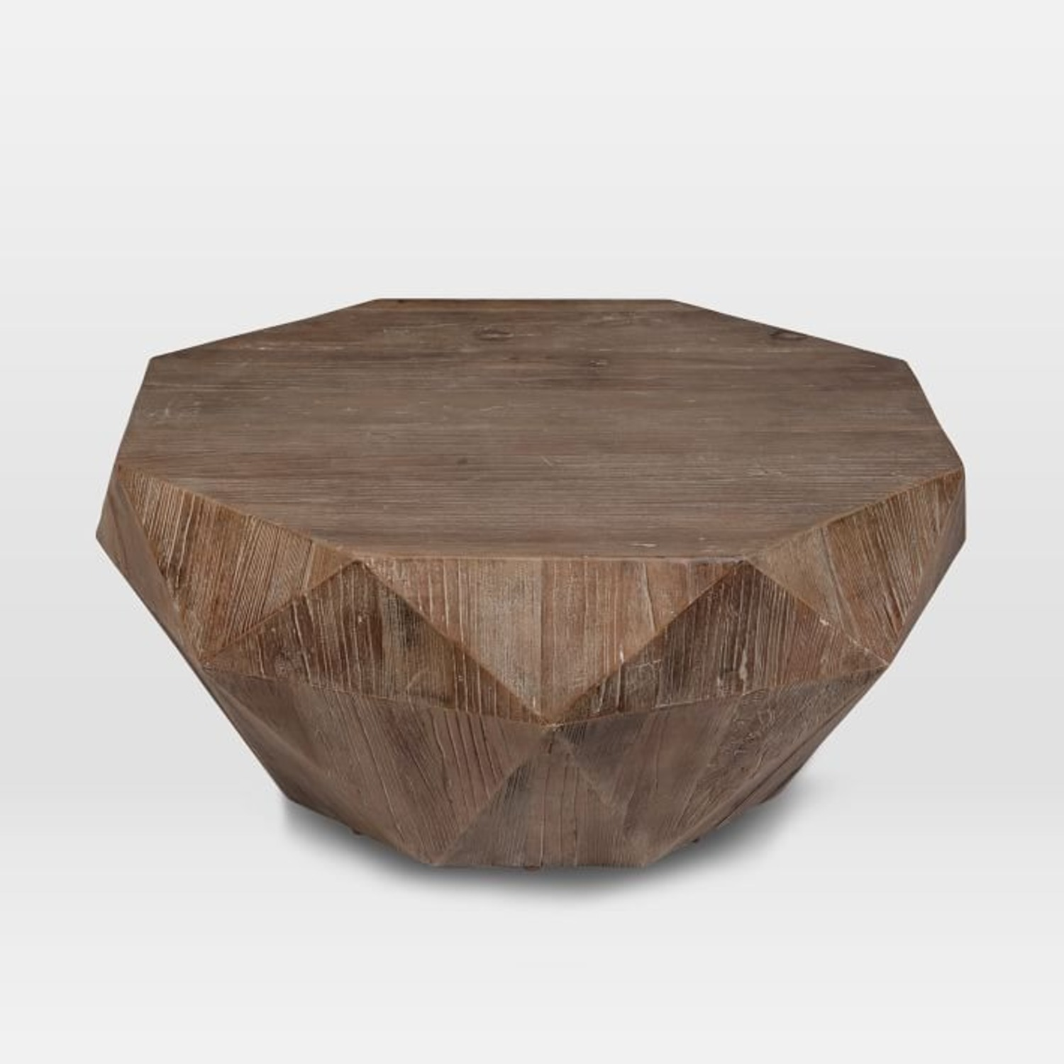West Elm Reclaimed Wood Faceted Coffee Table - image-1