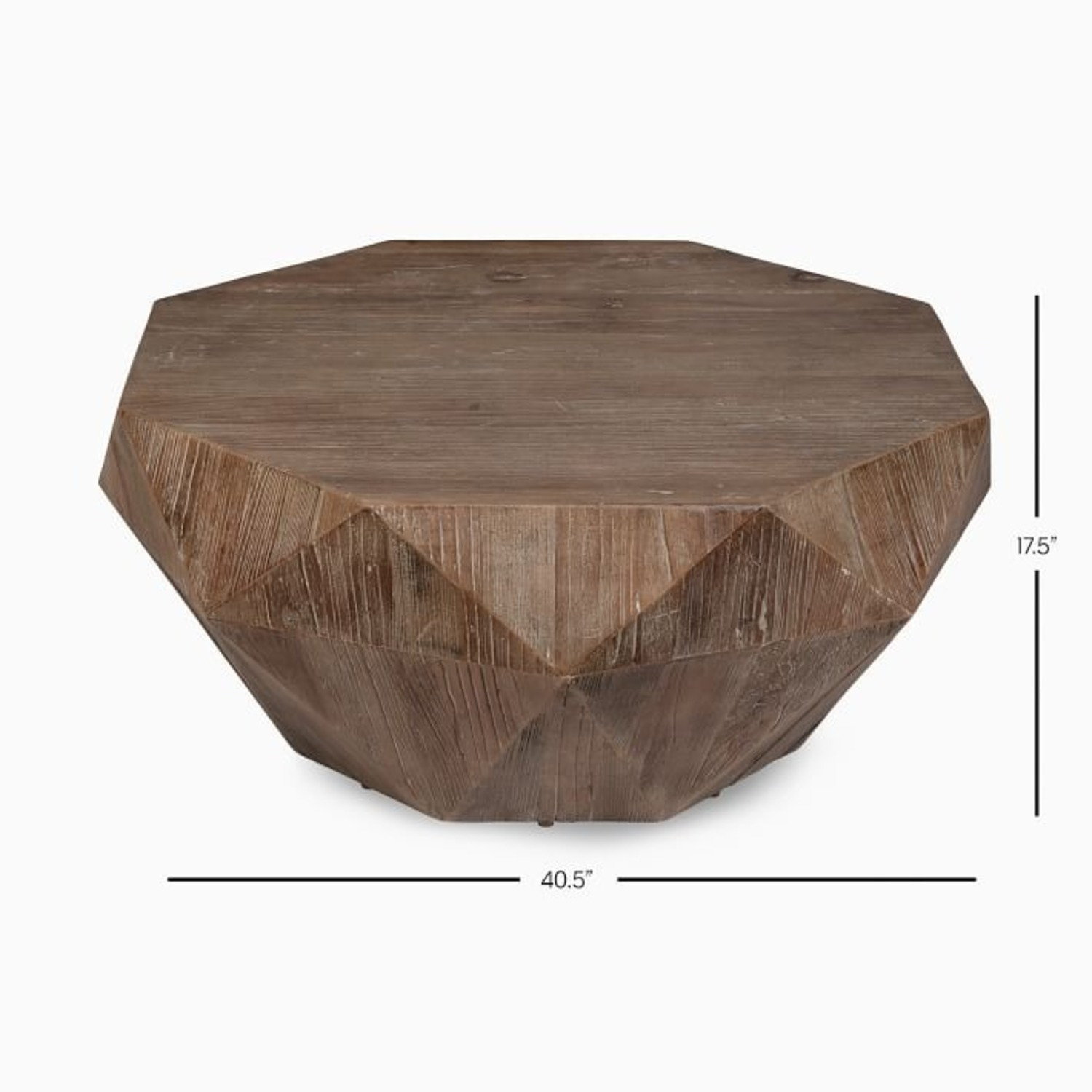 West Elm Reclaimed Wood Faceted Coffee Table - image-3