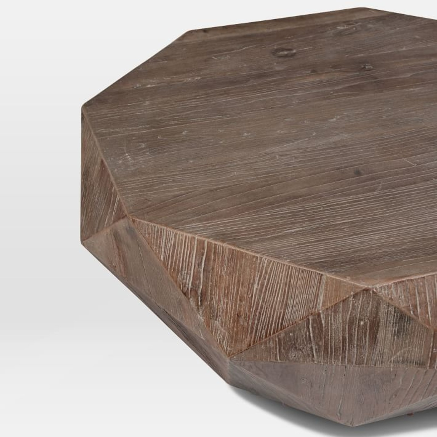 West Elm Reclaimed Wood Faceted Coffee Table - image-2