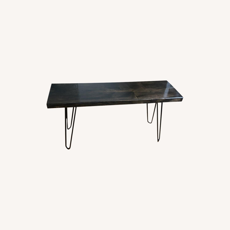 Handmade Coffee Table - Mid Century Modern - Ebony - image-5