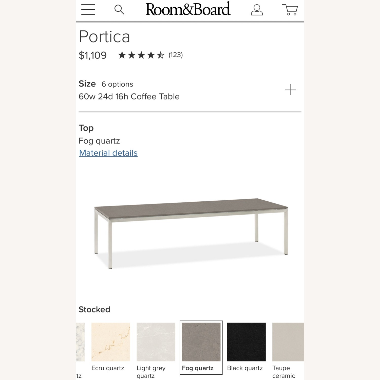 Room & Board Portica Coffee Table with Fog Quartz - image-2