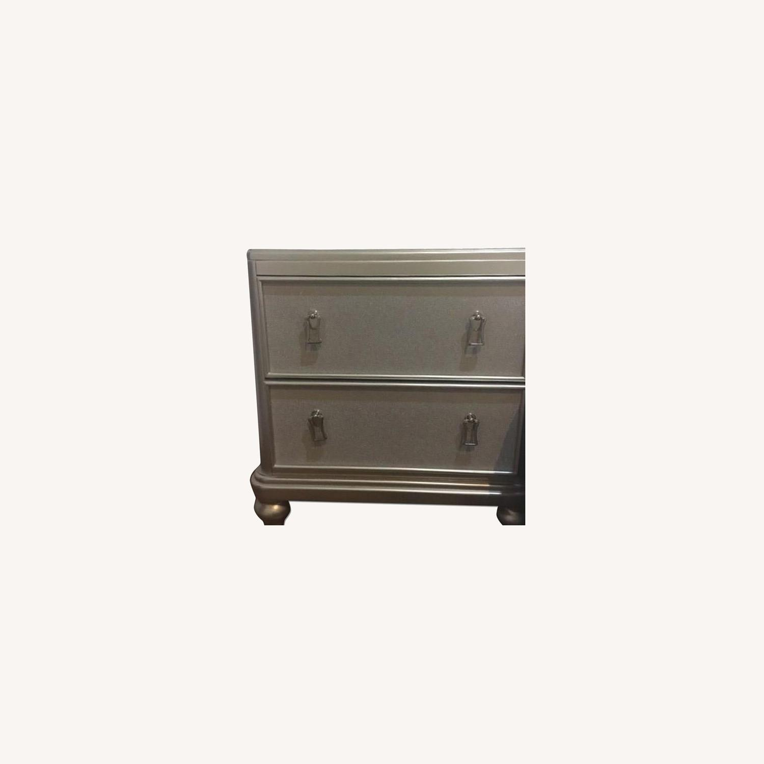 Bob's Discount Furniture Silver Nightstand - image-0