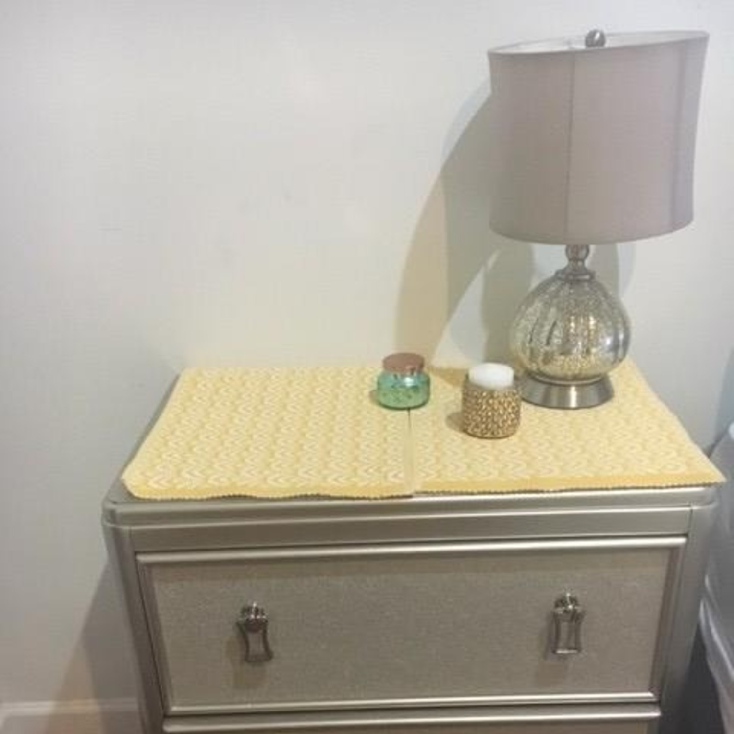 Bob's Discount Furniture Silver Nightstand - image-2