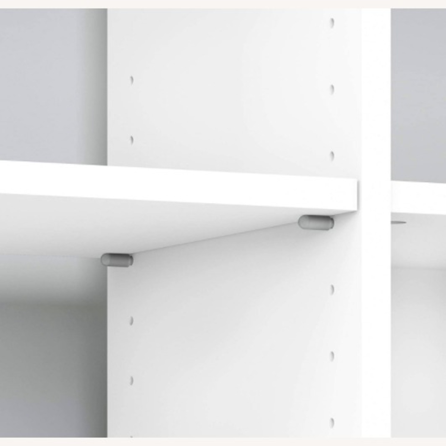 Modern Contemporary 6 Shelves White Wood Bookcase - image-2