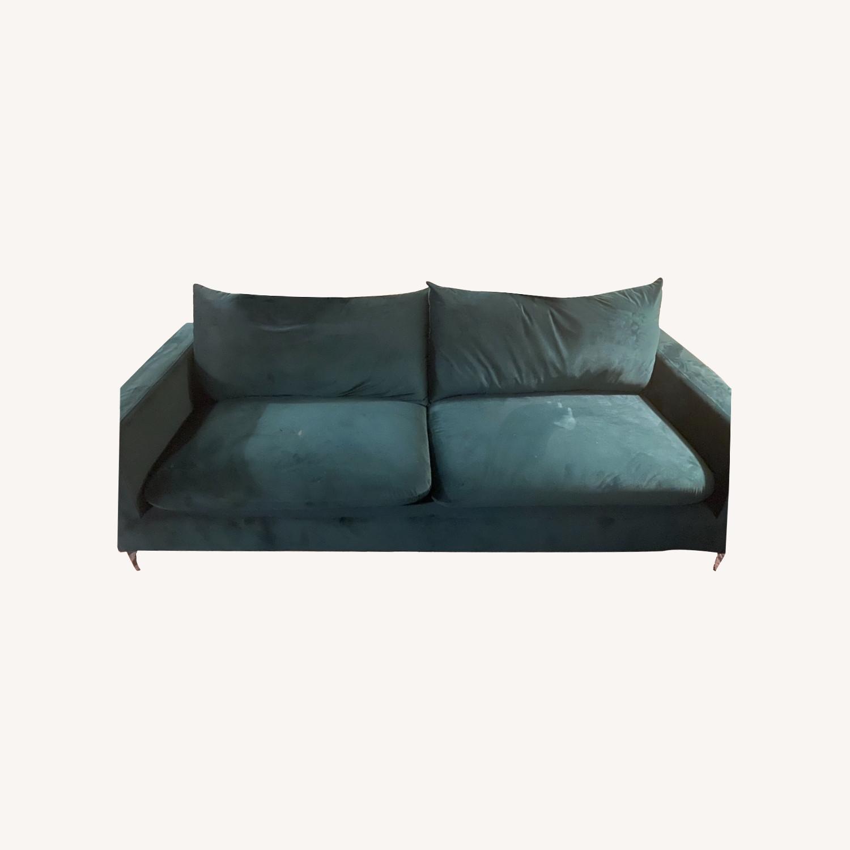 Normann Copenhagen Green Velvet Sofa - image-0
