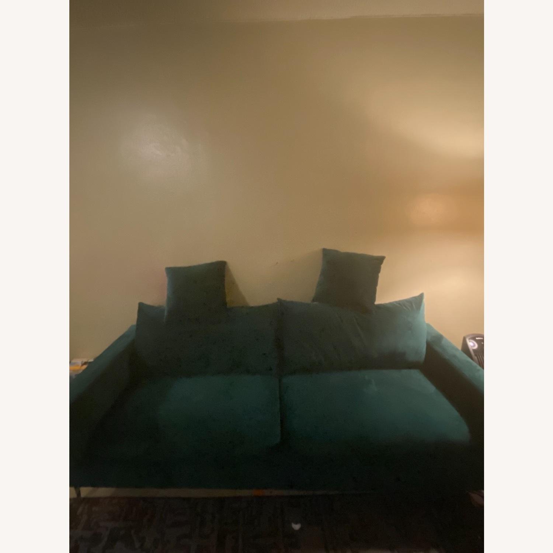 Normann Copenhagen Green Velvet Sofa - image-3