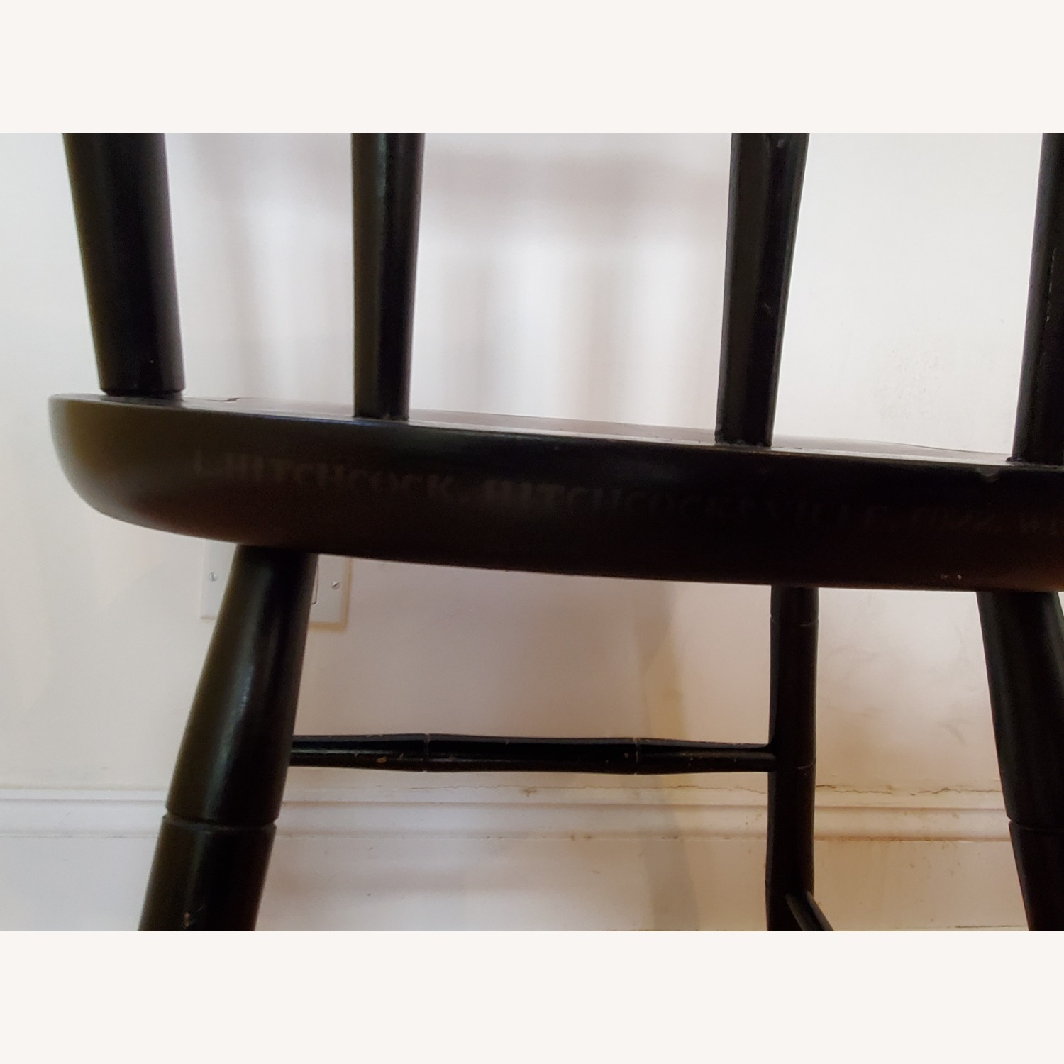 Hitchcock Furniture Signed Black Farmhouse Chair - image-9