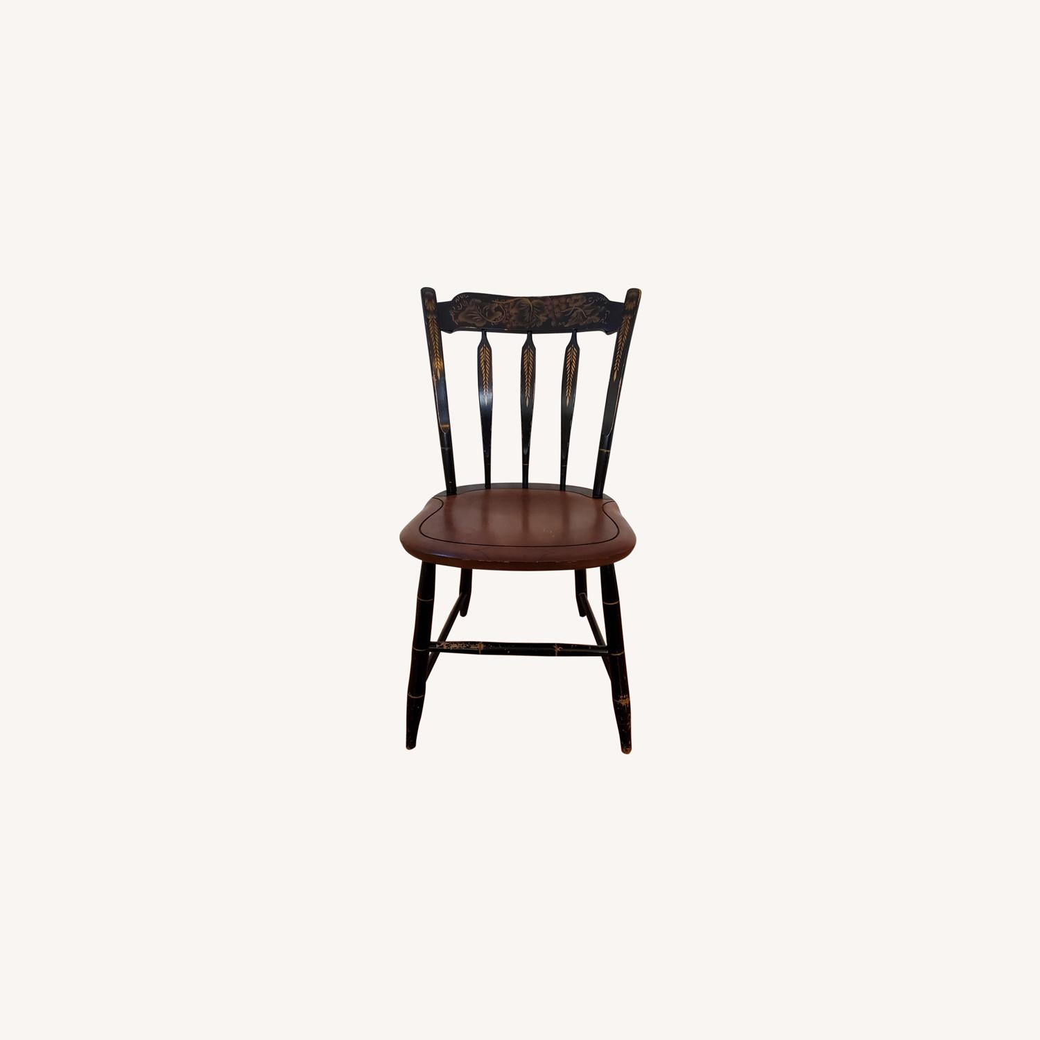 Hitchcock Furniture Signed Black Farmhouse Chair - image-0