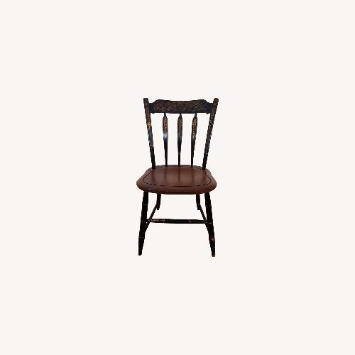 Used Hitchcock Furniture Signed Black Farmhouse Chair for sale on AptDeco