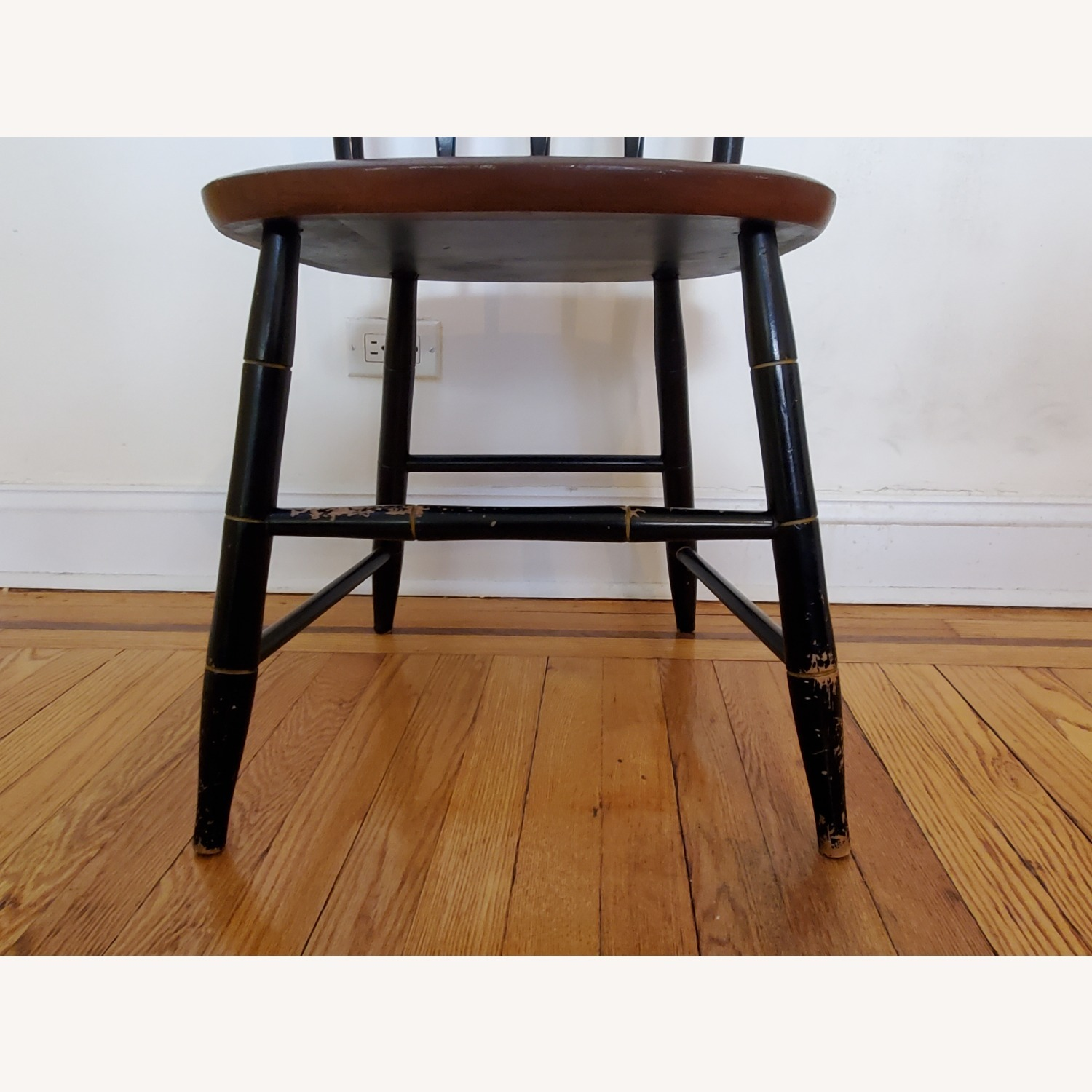 Hitchcock Furniture Signed Black Farmhouse Chair - image-5