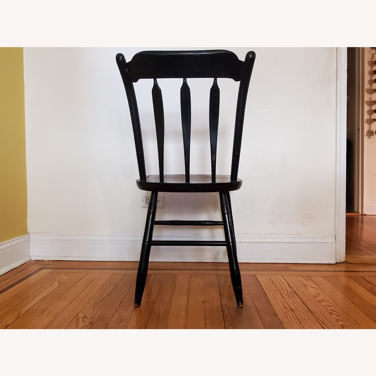 Hitchcock Furniture Signed Black Farmhouse Chair - image-8
