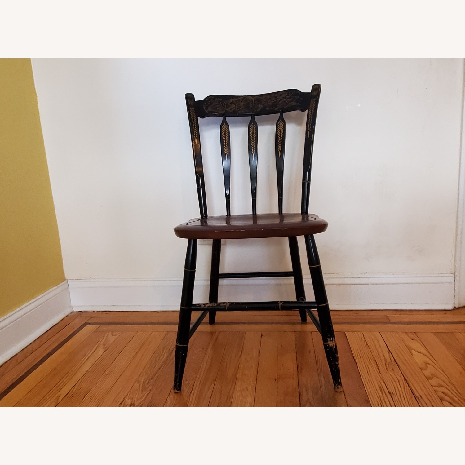 Hitchcock Furniture Signed Black Farmhouse Chair - image-2