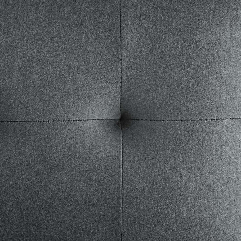 Glam Style Bar Stool In Charcoal Velvet Upholstery - image-5