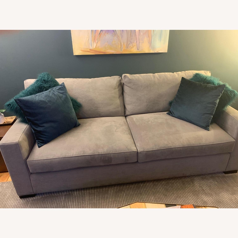 Crate & Barrel Axis II Gray Queen Sleeper Sofa - image-2