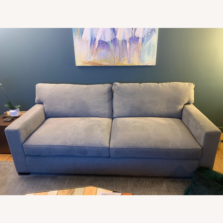 Crate & Barrel Axis II Gray Queen Sleeper Sofa - image-1