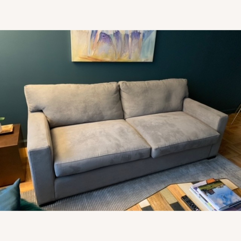 Crate & Barrel Axis II Gray Queen Sleeper Sofa - image-3