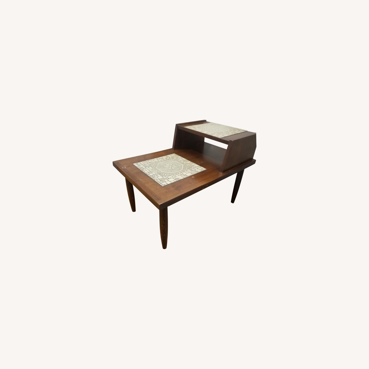 Mid Century Modern Two Tier End Table - image-0