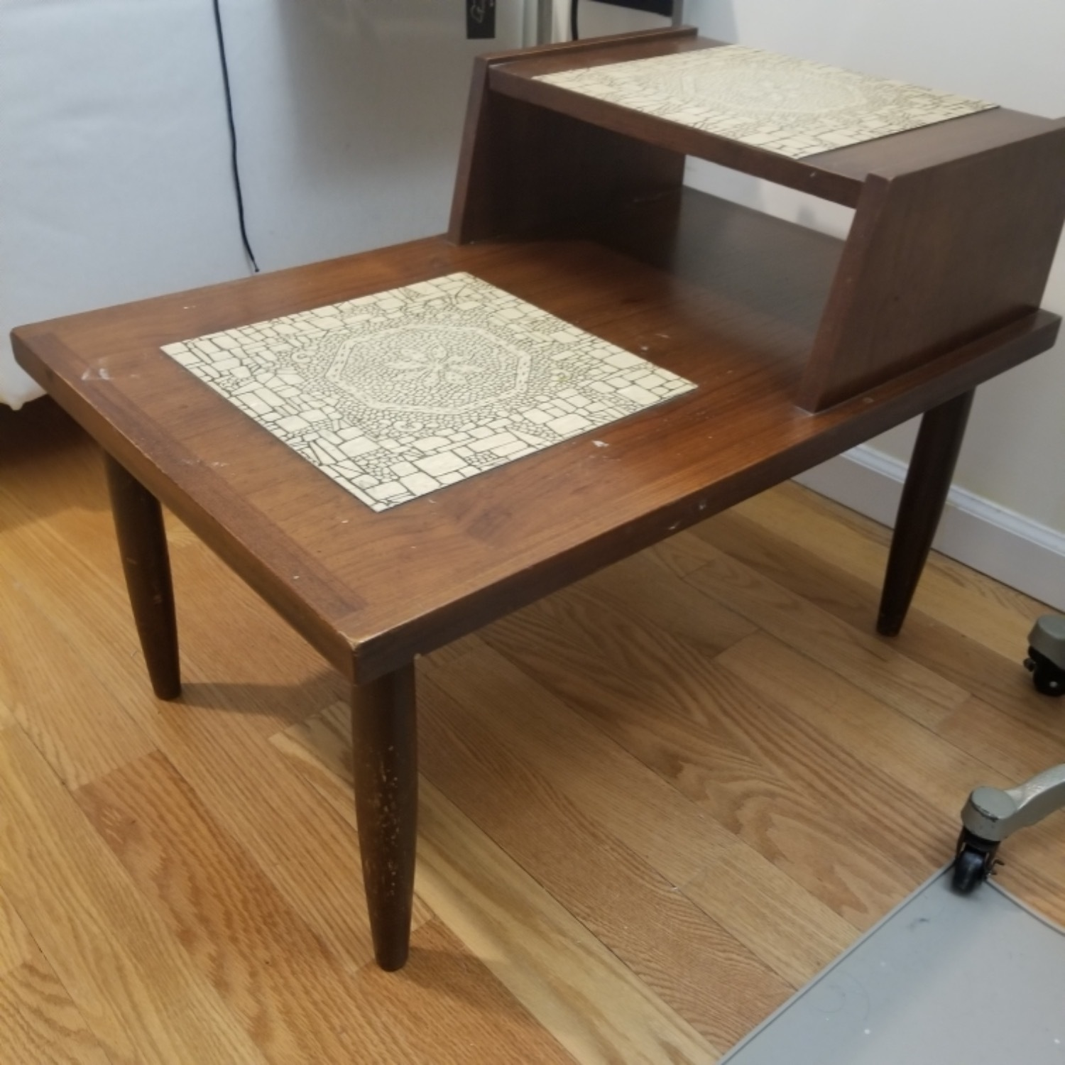 Mid Century Modern Two Tier End Table - image-2