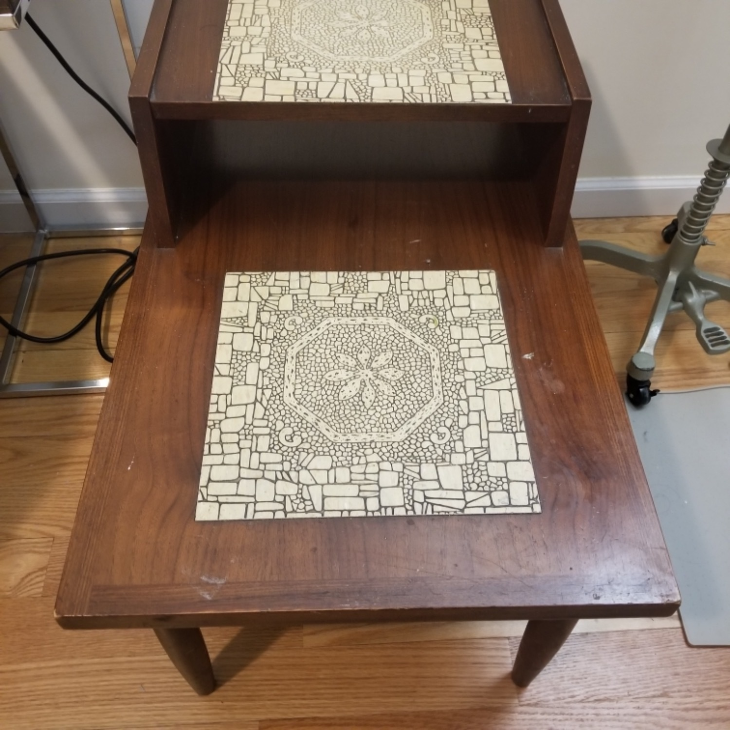 Mid Century Modern Two Tier End Table - image-1