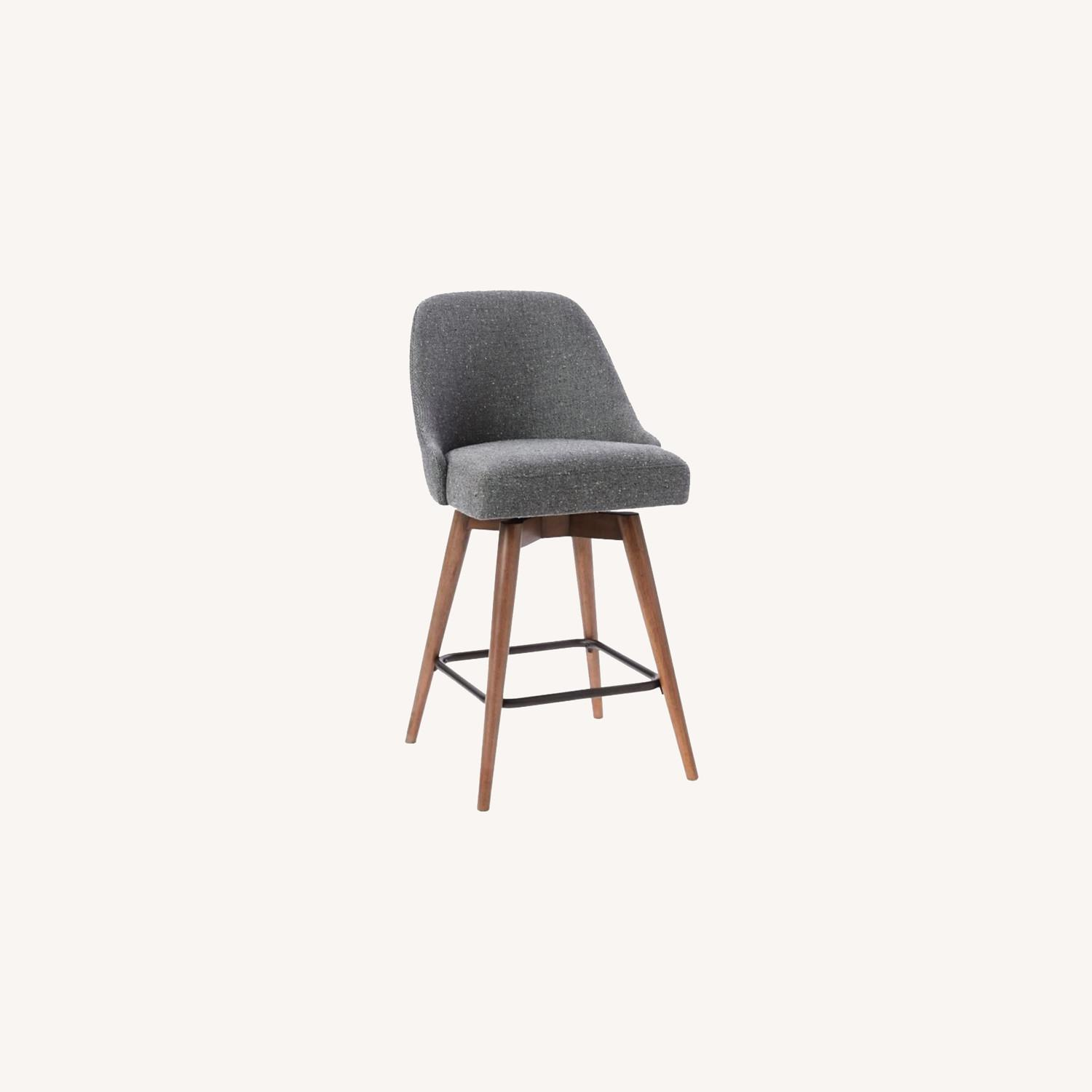 West Elm Upholstered Counter Stools - image-0