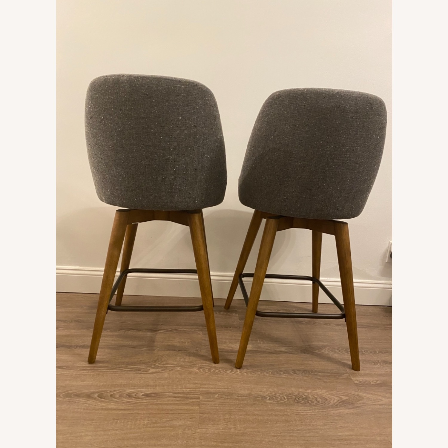 West Elm Upholstered Counter Stools - image-6