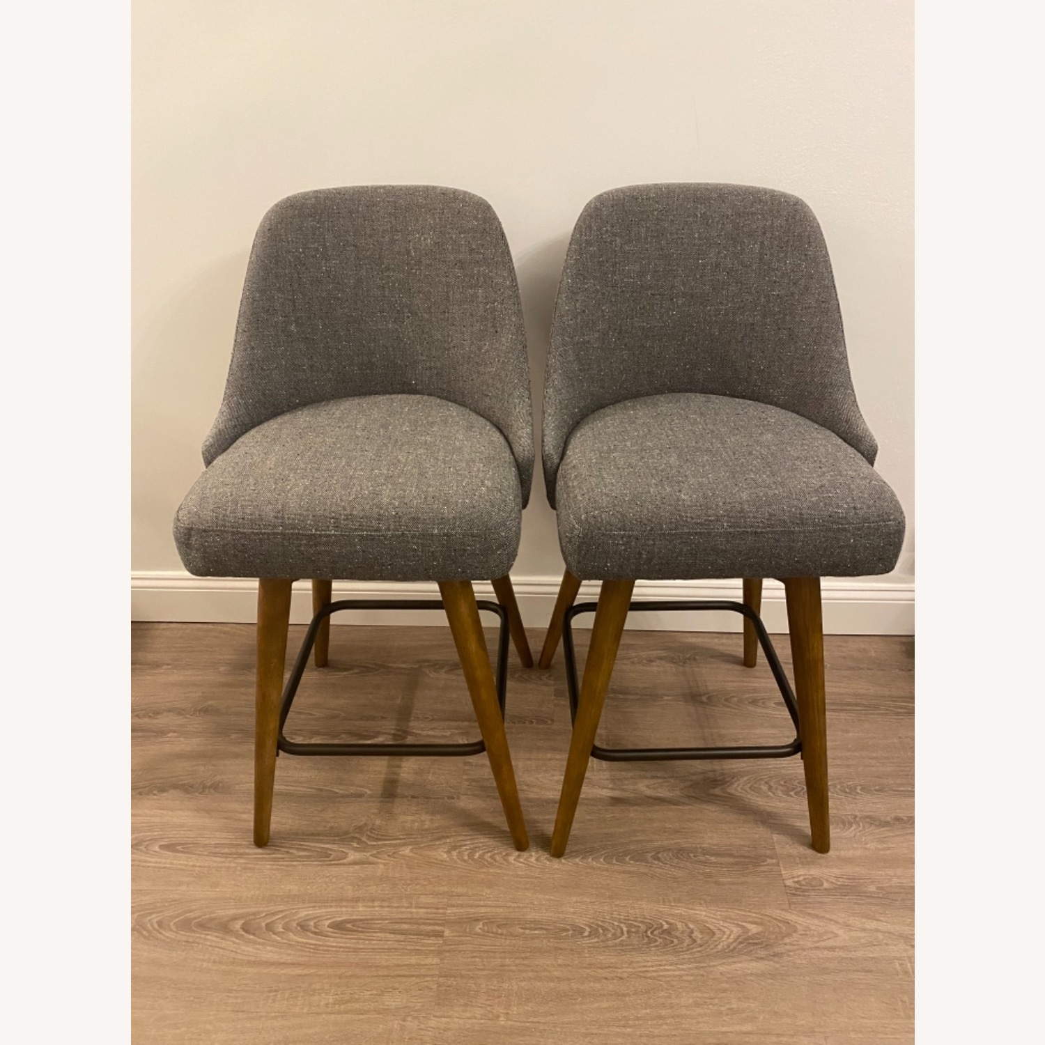 West Elm Upholstered Counter Stools - image-2