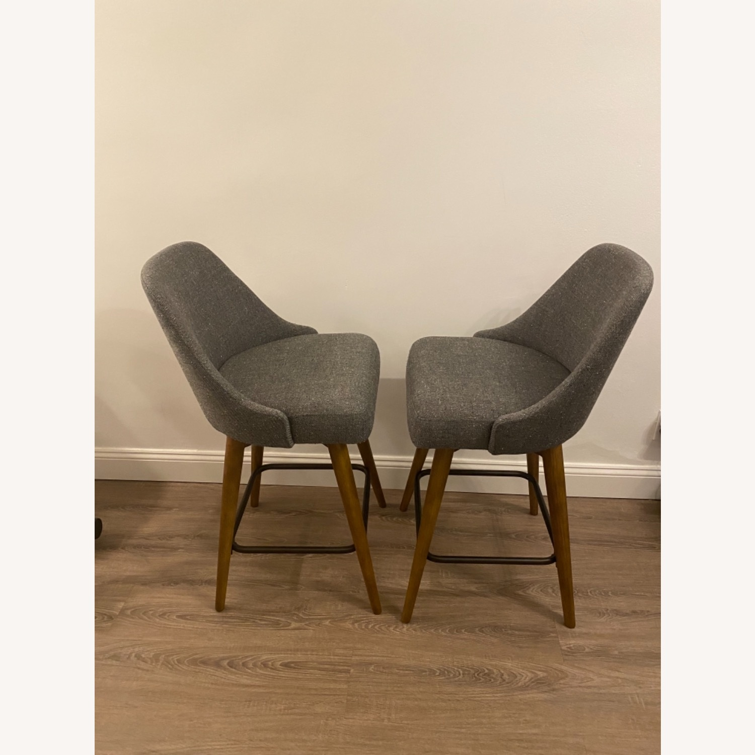 West Elm Upholstered Counter Stools - image-4