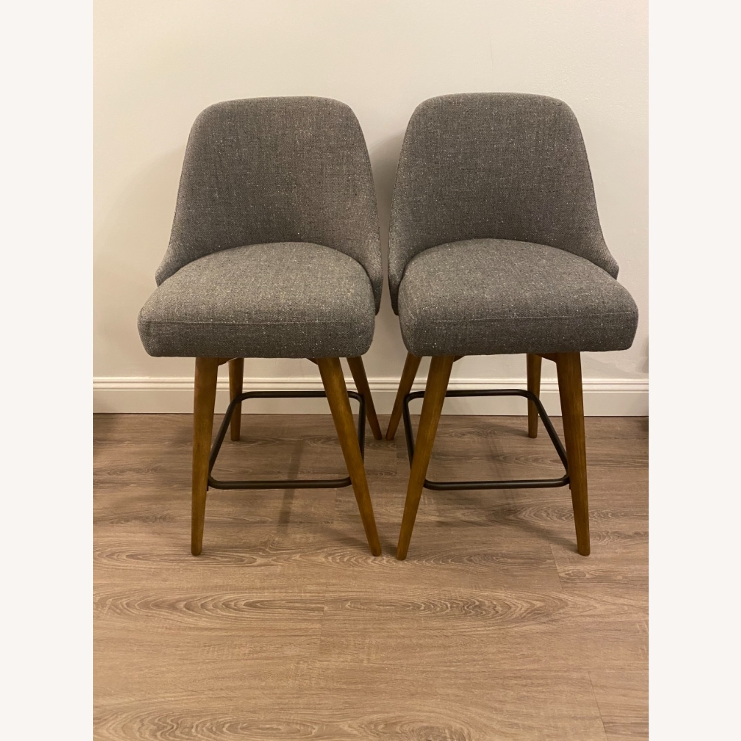 West Elm Upholstered Counter Stools - image-3