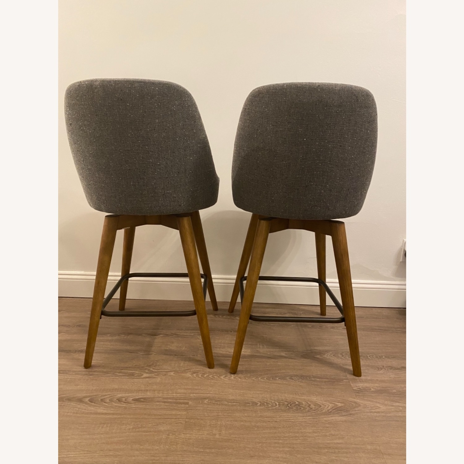 West Elm Upholstered Counter Stools - image-5