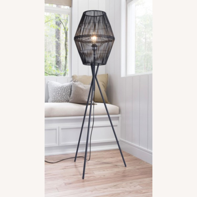 Zuo Modern Furniture Modern Black Floor Lamp - image-2