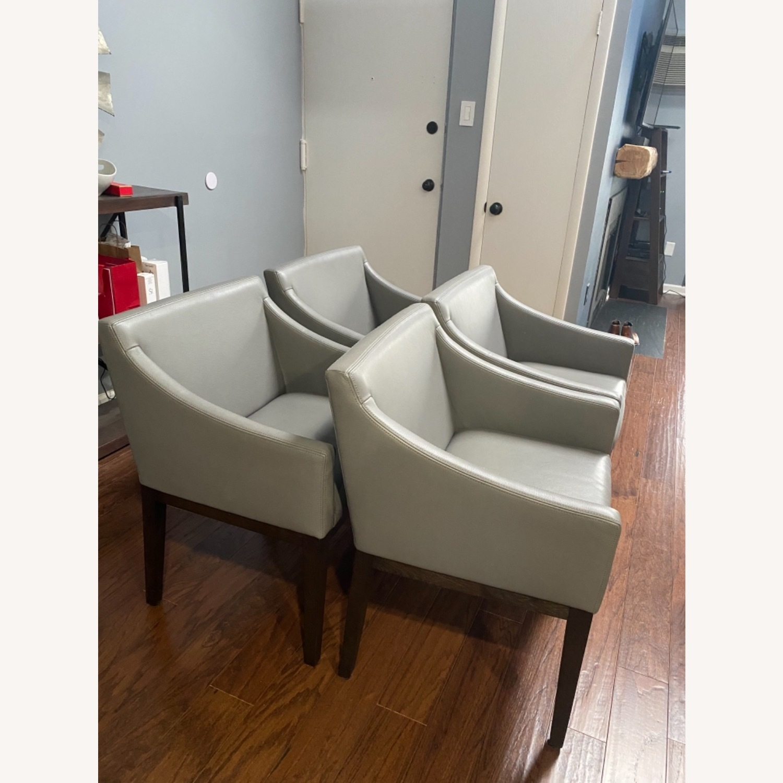 Restoration Hardware Set of Four(4) Morgan Slope Armchairs - image-1