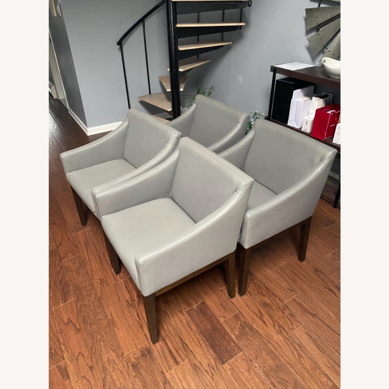 Restoration Hardware Set of Four(4) Morgan Slope Armchairs - image-2