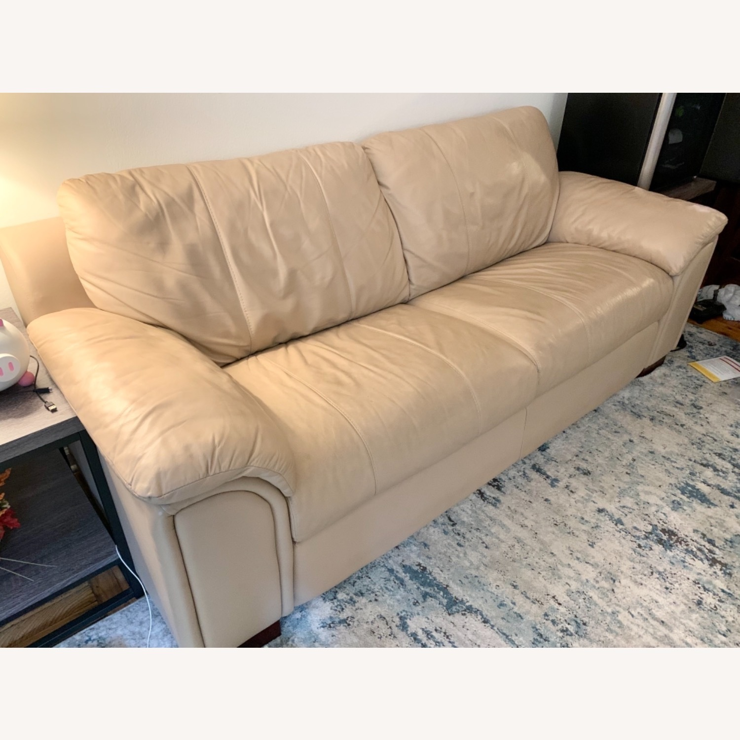 American Leather Pull Out Sleeper Sofa - image-5