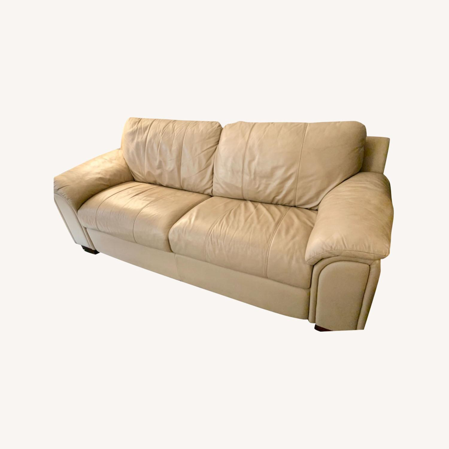 American Leather Pull Out Sleeper Sofa - image-0
