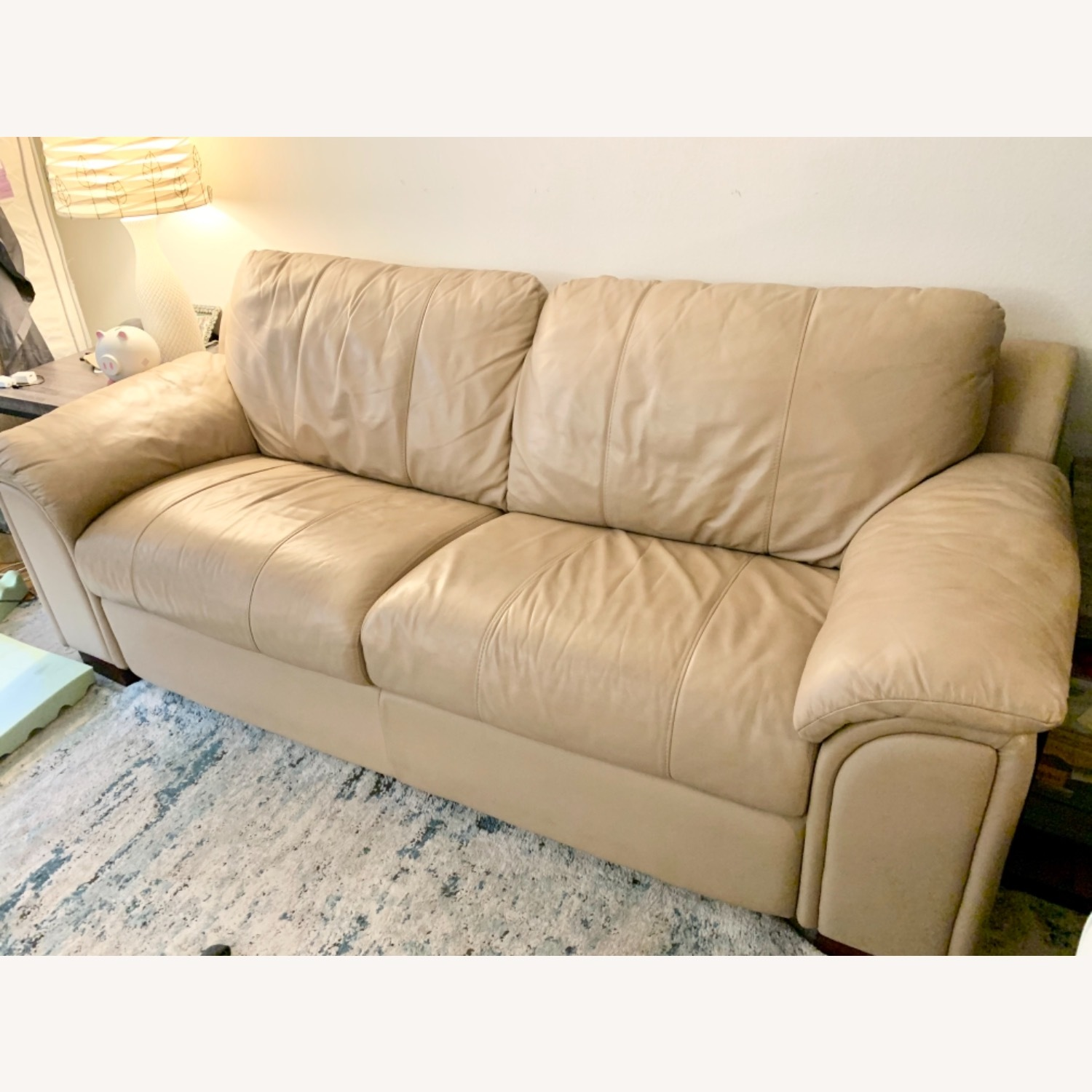 American Leather Pull Out Sleeper Sofa - image-1