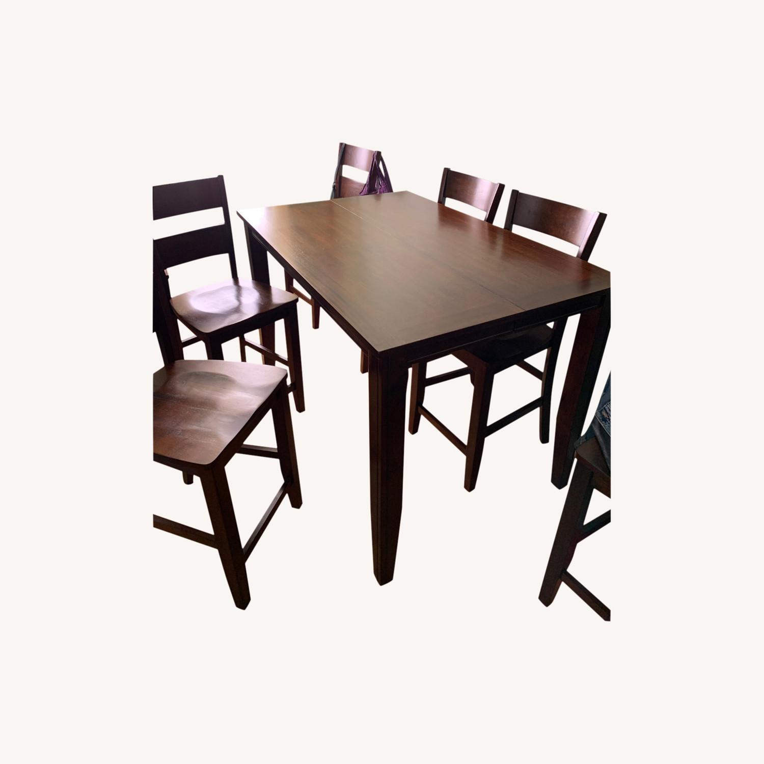 7 Piece Dining Set with Leaf - image-0