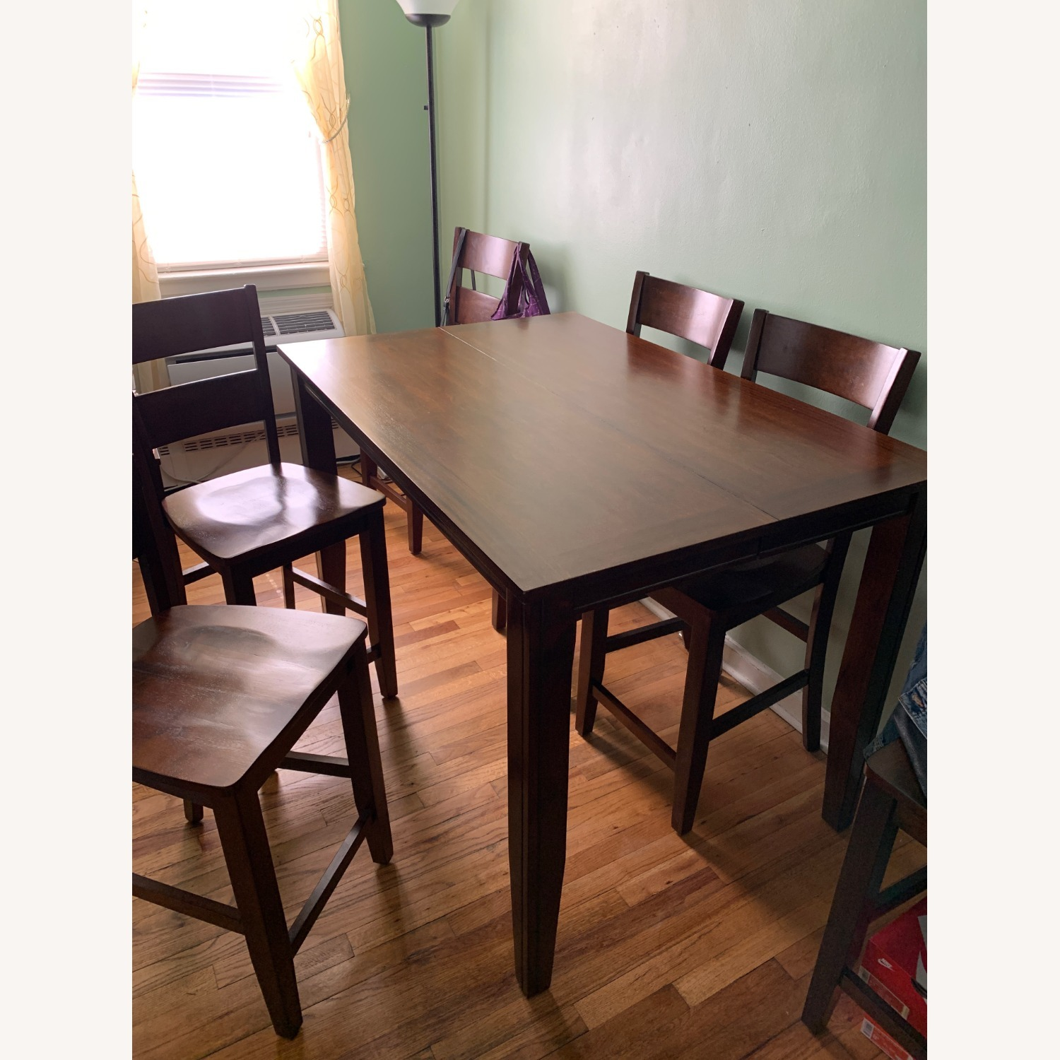7 Piece Dining Set with Leaf - image-1