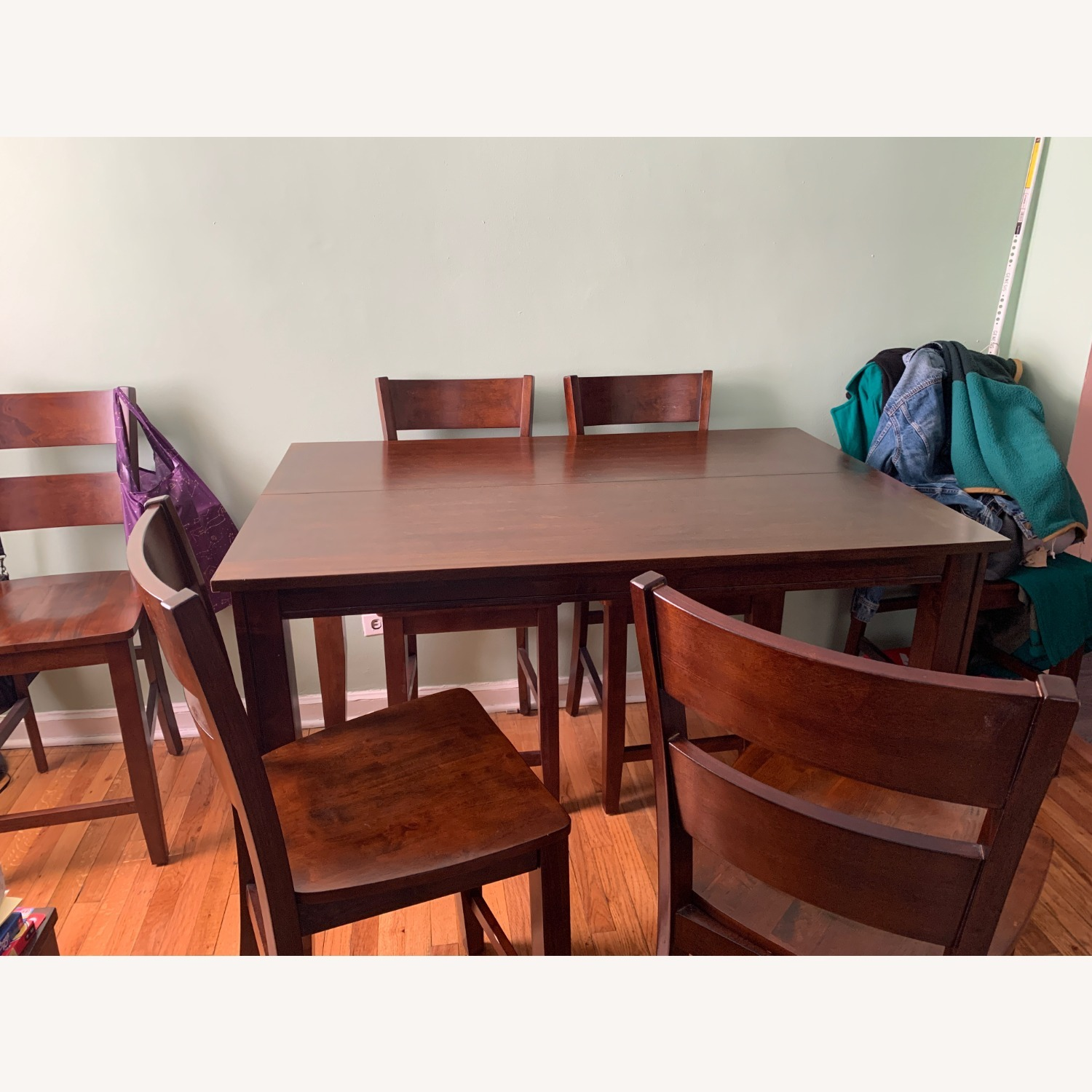 7 Piece Dining Set with Leaf - image-2