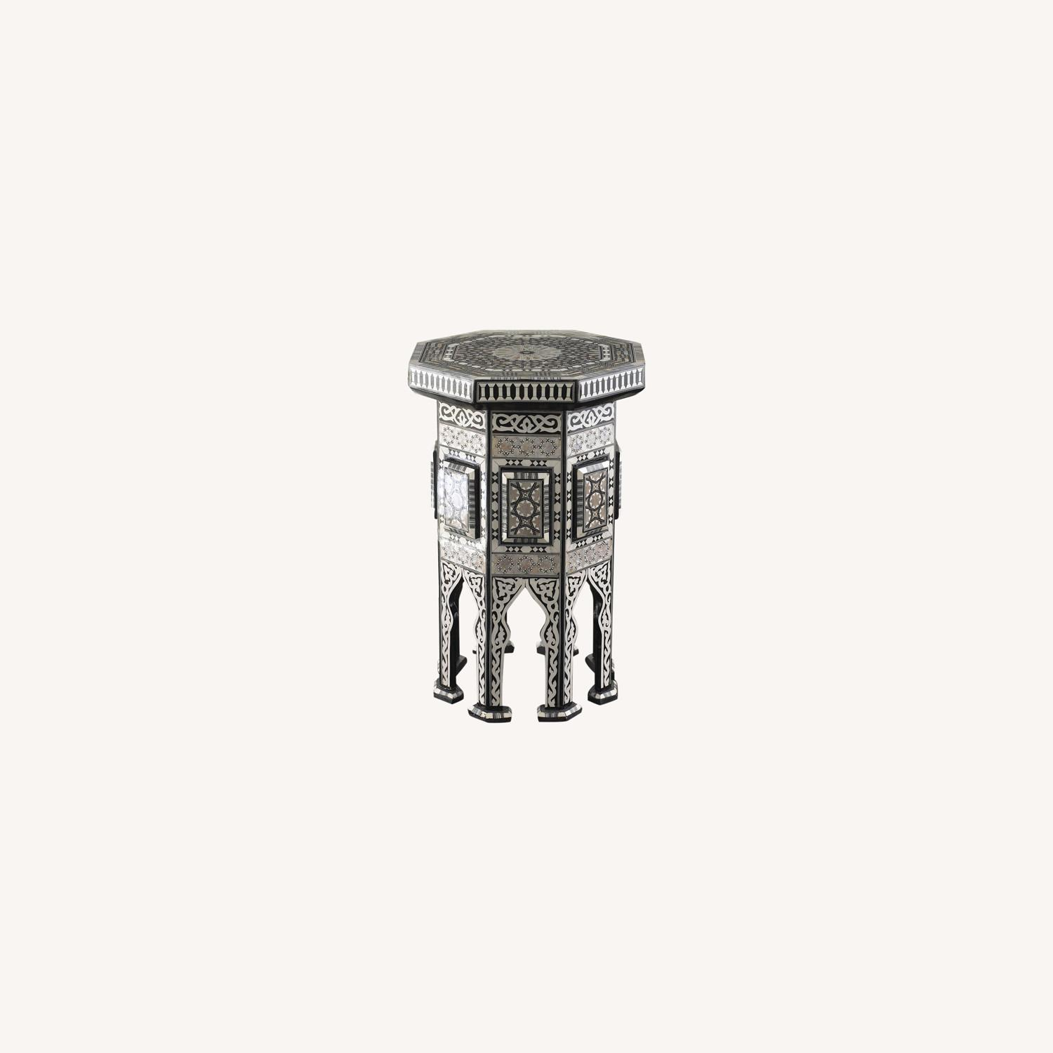 """Horchow Black """"Moroccan"""" Table - image-0"""