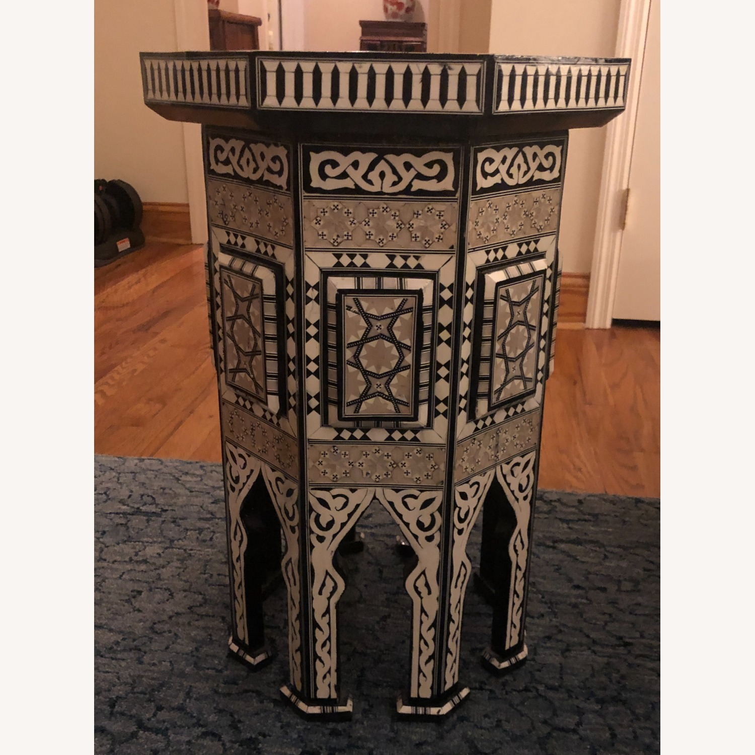"""Horchow Black """"Moroccan"""" Table - image-4"""