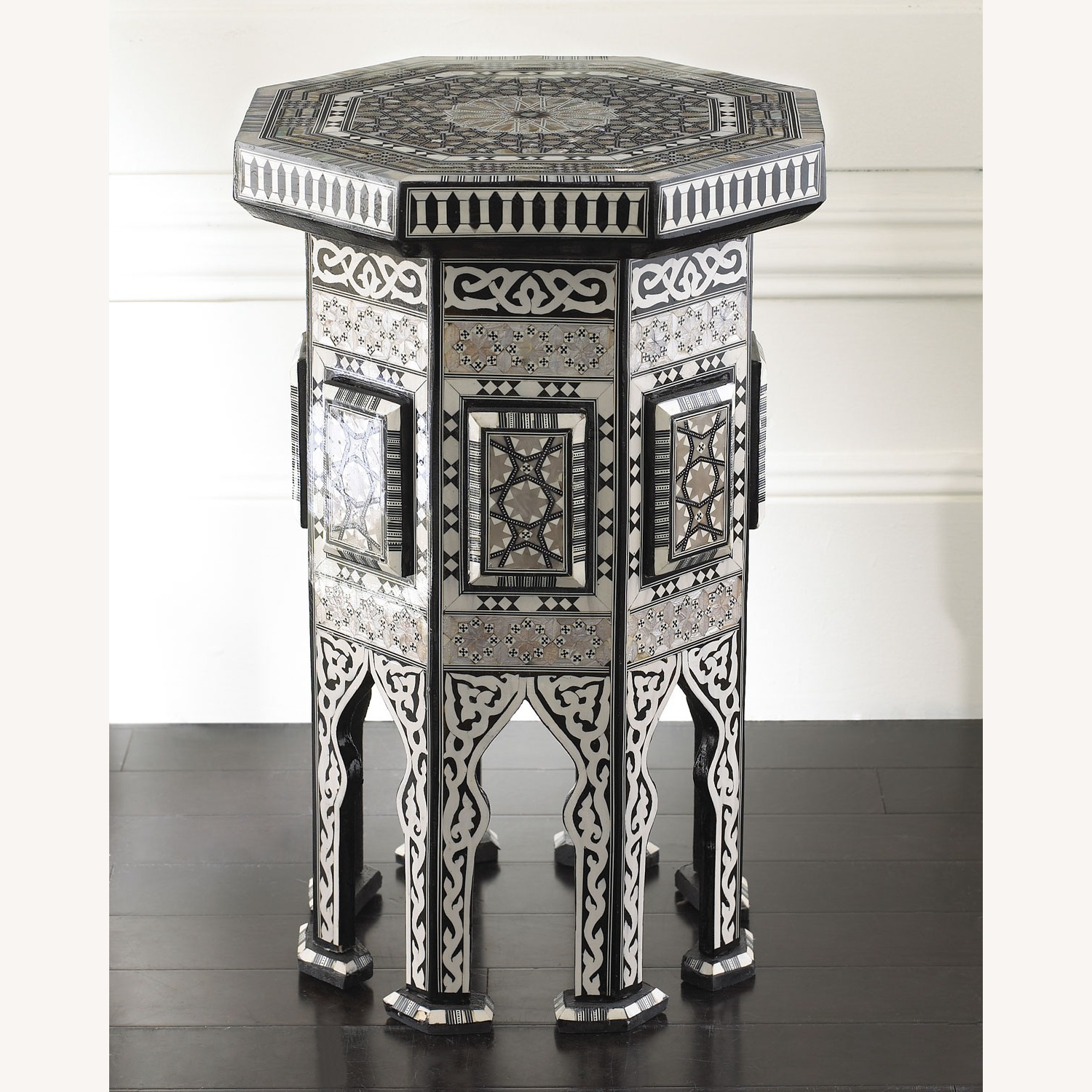 """Horchow Black """"Moroccan"""" Table - image-1"""