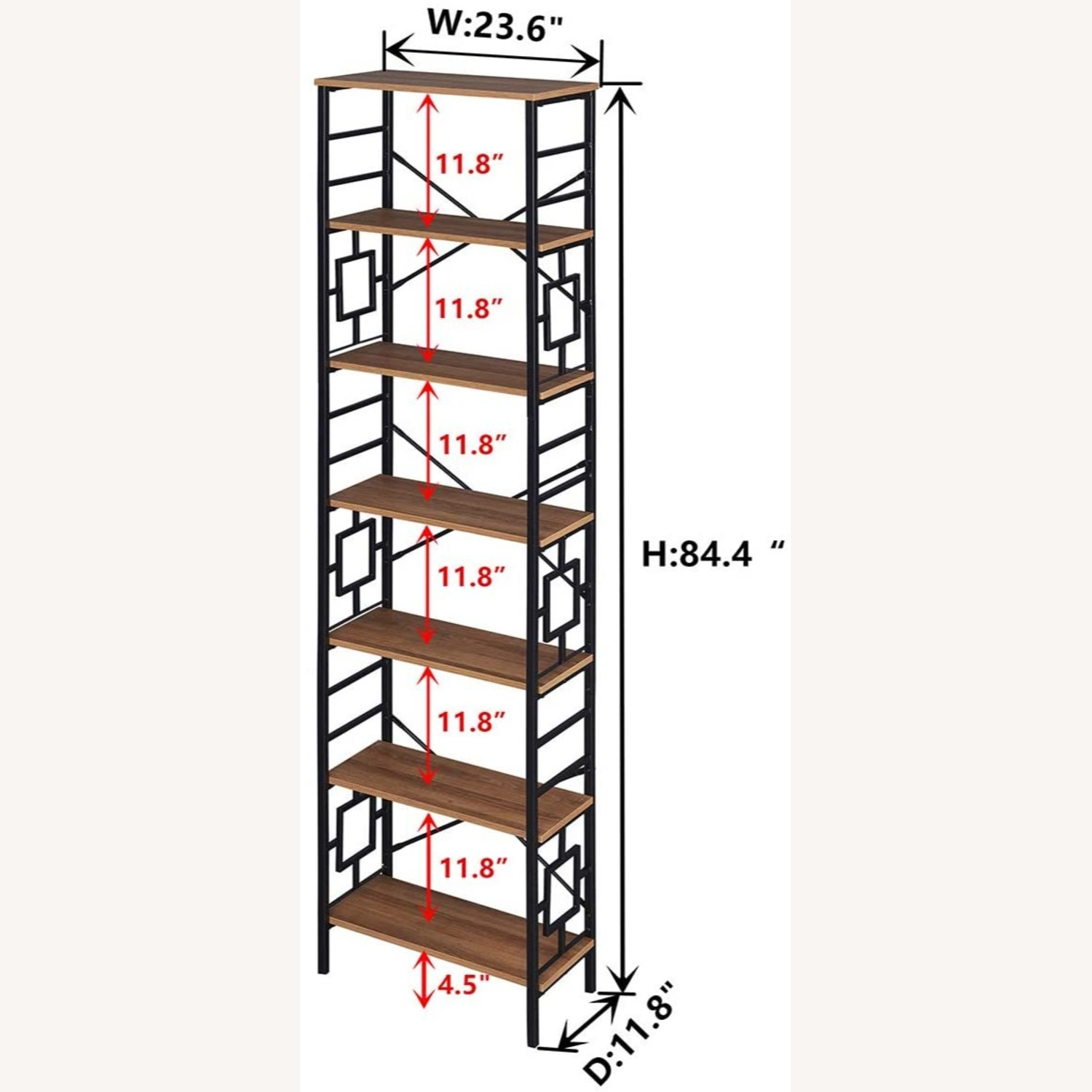 7-Tier Bookcase, Homissue - image-4