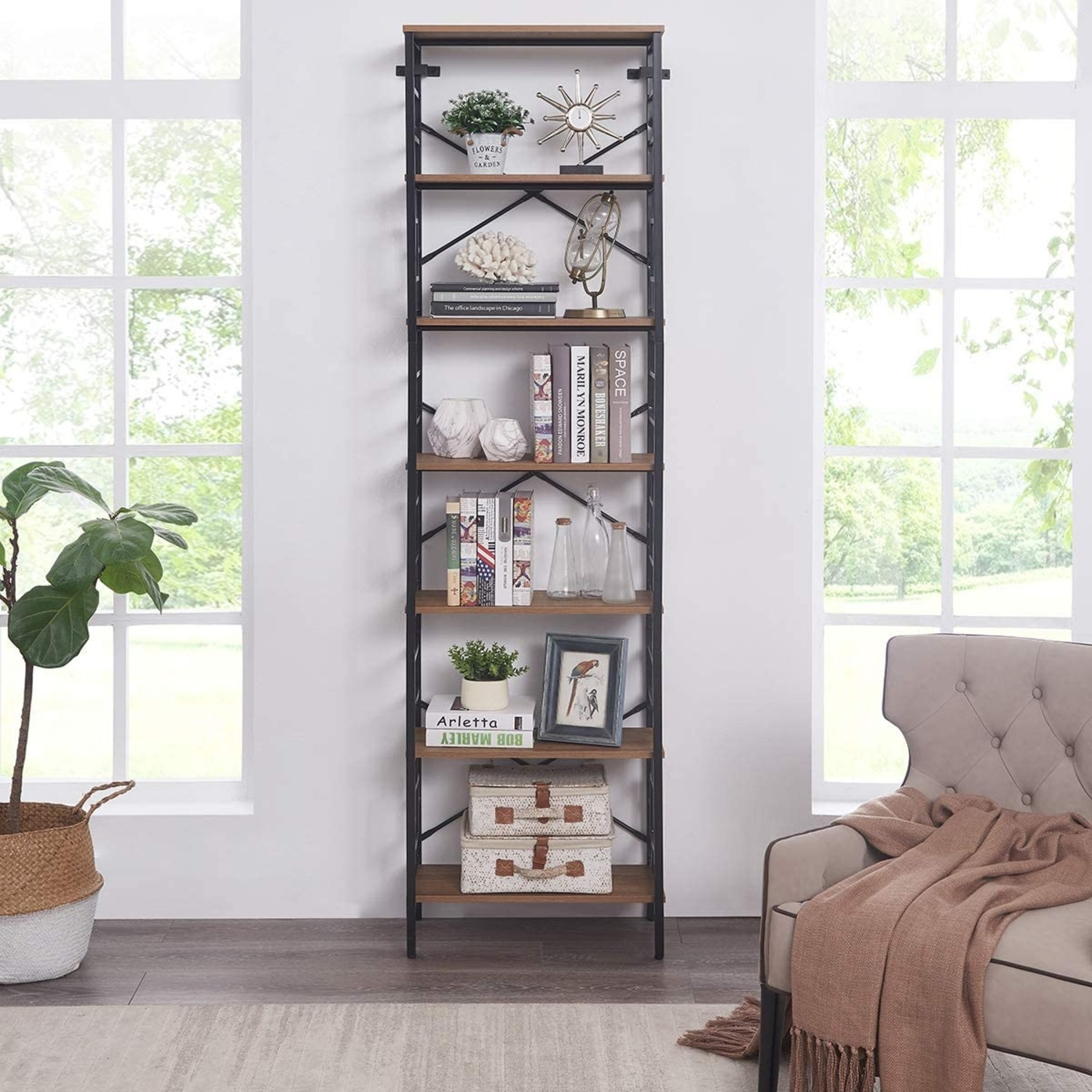 7-Tier Bookcase, Homissue - image-3