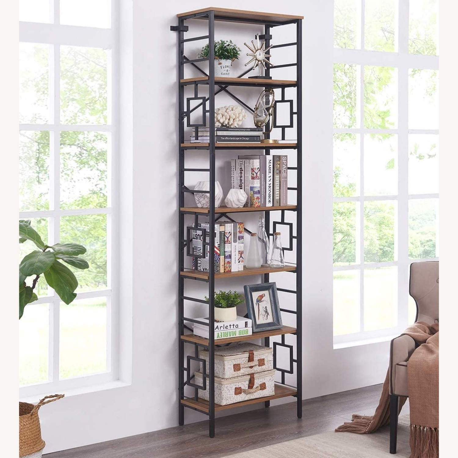 7-Tier Bookcase, Homissue - image-1