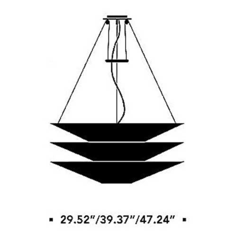 Ingo Maurer Floatation Ceiling Light - image-3