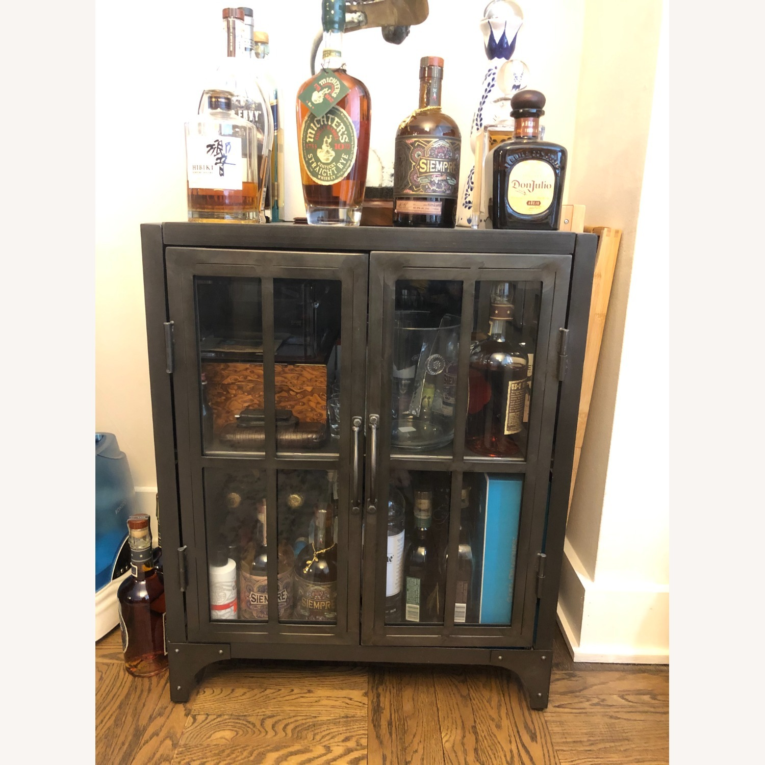 World Market Bar Cart / Cabinet - image-1