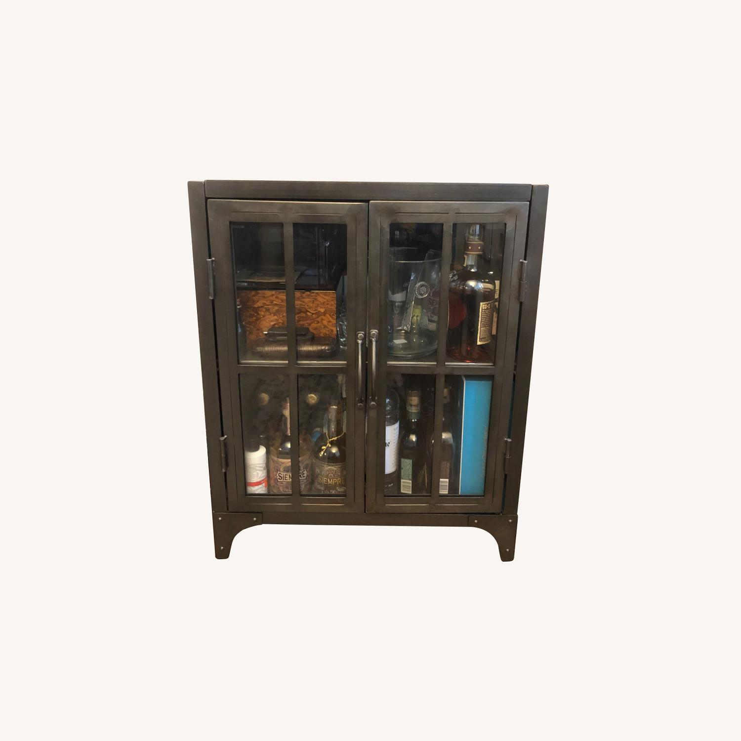 World Market Bar Cart / Cabinet - image-0