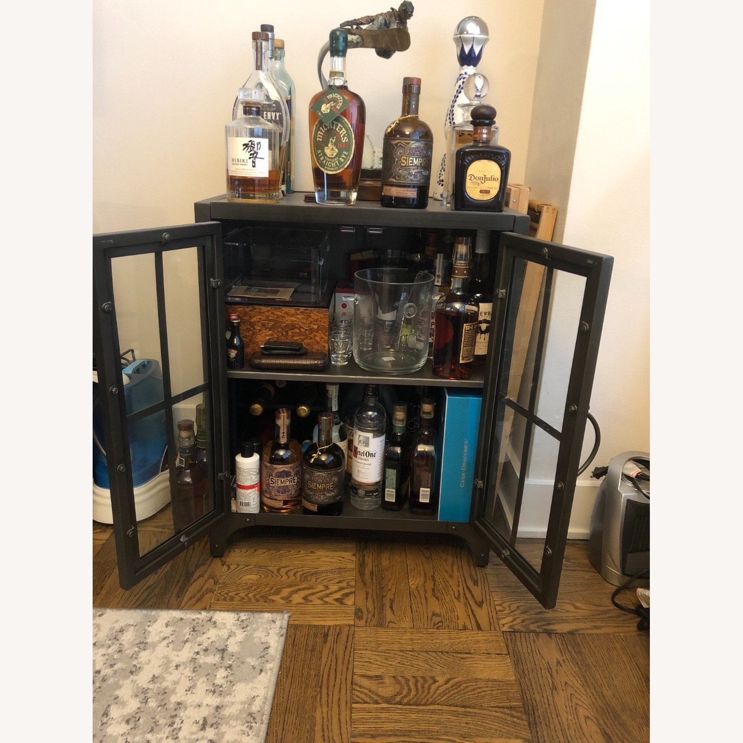 World Market Bar Cart / Cabinet - image-3