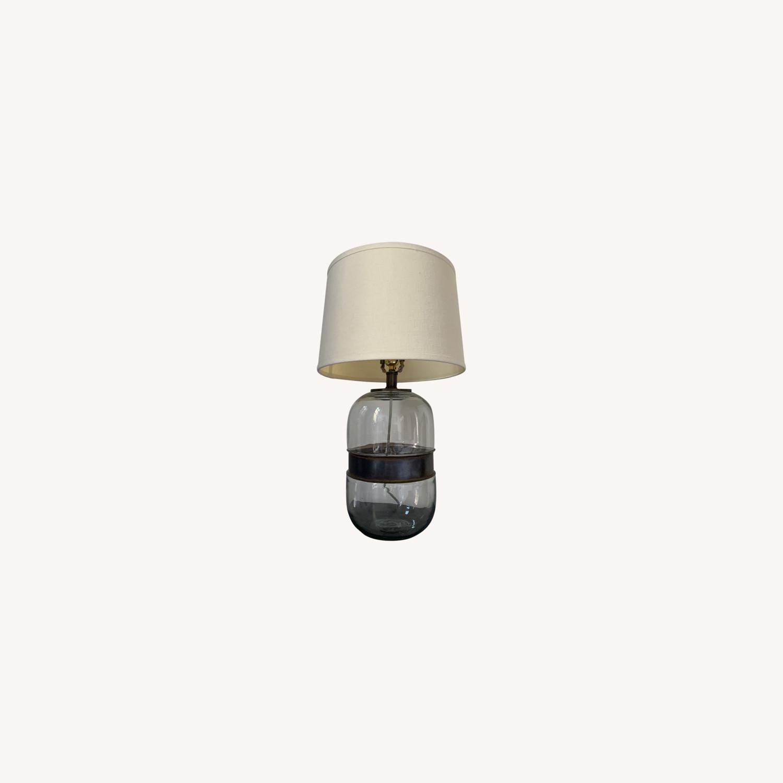 Restoration Hardware Glass Lamp - image-0